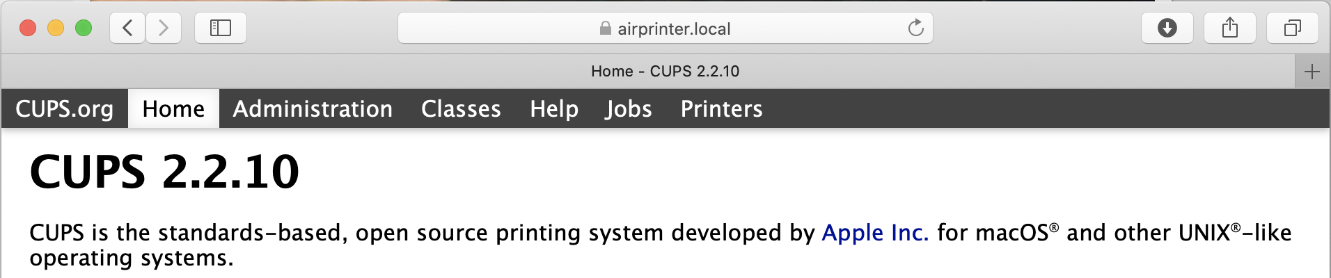 Making a printserver with Apple AirPrint support